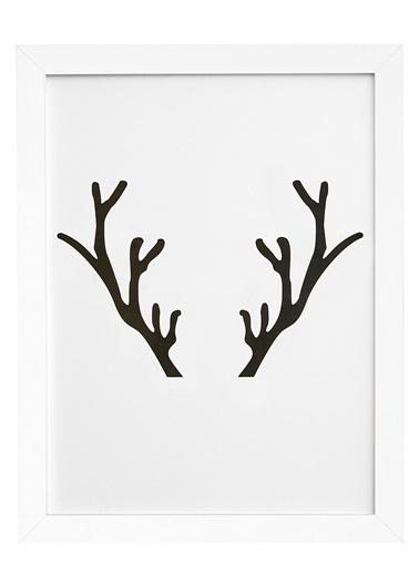 Nordbagen Deer Poster Beyaz